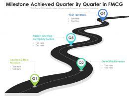 Milestone Achieved Quarter By Quarter In FMCG