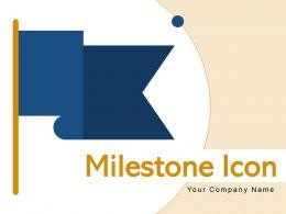 Milestone Icon Mountains Direction Triangular Circle