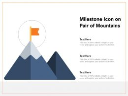 Milestone Icon On Pair Of Mountains