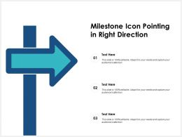 Milestone Icon Pointing In Right Direction