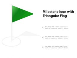 Milestone Icon With Triangular Flag