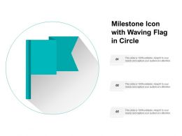 Milestone Icon With Waving Flag In Circle