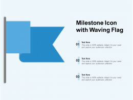 Milestone Icon With Waving Flag