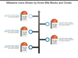 Milestone Icons Shown By Arrow Mile Blocks And Circles