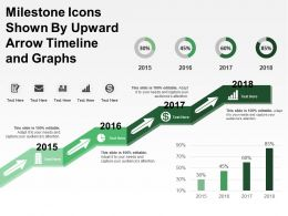 Milestone Icons Shown By Upward Arrow Timeline And Graphs