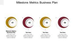 Milestone Metrics Business Plan Ppt Powerpoint Presentation Outline Styles Cpb