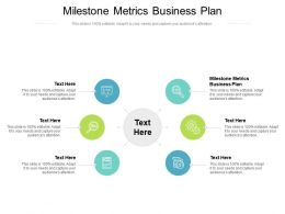Milestone Metrics Business Plan Ppt Powerpoint Presentation Portfolio Skills Cpb