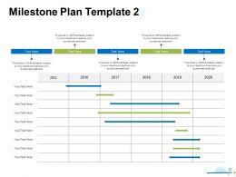 Milestone Plan 2015 To 2020 Ppt Powerpoint Presentation Gallery Graphics Tutorials