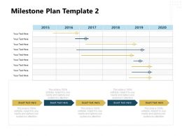 Milestone Plan 2015 To 2020 Ppt Powerpoint Presentation Ideas