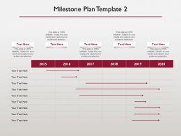 Milestone Plan 2015 To 2020 Ppt Powerpoint Presentation Template