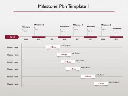 Milestone Plan 2020 Ppt Powerpoint Presentation Summary Designs