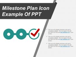Milestone Plan Icon Example Of Ppt