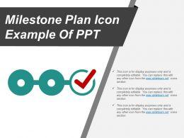 Milestone Plan Icon Example Of Ppt