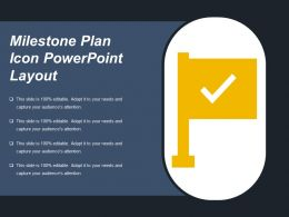 Milestone Plan Icon Powerpoint Layout