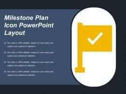 Milestone Plan Icon Powerpoint Layout