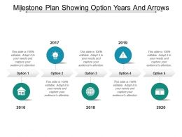 Milestone Plan Showing Option Years And Arrows