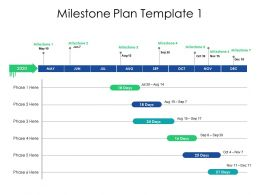 Milestone Plan Template Ppt Powerpoint Presentation Backgrounds