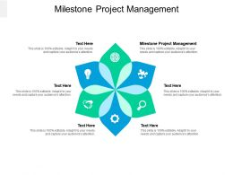 Milestone Project Management Ppt Powerpoint Presentation Layouts Example Cpb