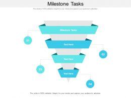 Milestone Tasks Ppt Powerpoint Presentation Slides Graphics Tutorials Cpb