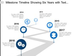 Milestone Timeline Showing Six Years With Text Messaging