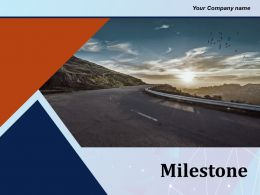 Milestone With Upward Path Showing Pointers Of Years Roadmap Business