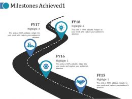Milestones Achieved 1 Ppt Portfolio Graphics Design