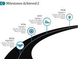 Milestones Achieved 2 Ppt Ideas Infographic Template