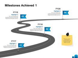 Milestones Achieved Developments Ppt Powerpoint Presentation Background