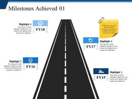 Milestones Achieved Ppt Background