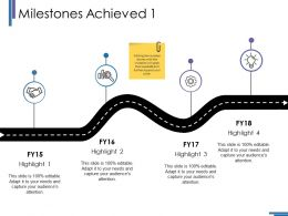 Milestones Achieved Ppt Icon Pictures