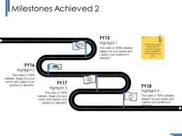 Milestones Achieved Ppt Layouts Icons