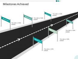 Milestones Achieved Ppt Powerpoint Presentation Infographics Infographics