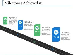 Milestones Achieved Ppt Slides