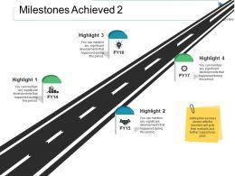 Milestones Achieved Ppt Slides Good