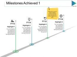 Milestones Achieved Ppt Slides Graphics