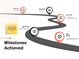 Milestones Achieved Process Ppt Powerpoint Presentation Summary Portrait