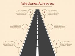 Milestones Achieved Roadmap Ppt Powerpoint Presentation File Inspiration