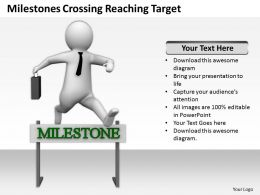 Milestones Crossing Reaching Target Ppt Graphics Icons Powerpoint