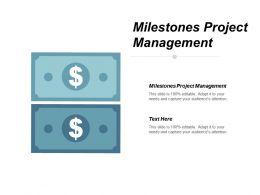 Milestones Project Management Ppt Powerpoint Presentation Model Clipart Cpb