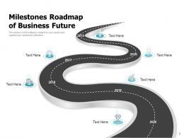 Milestones Roadmap Strategic Planning Framework Business Direction Achieving Goals Preparation