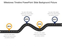 Milestones Timeline Powerpoint Slide Background Picture