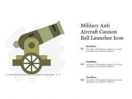 Military Anti Aircraft Cannon Ball Launcher Icon