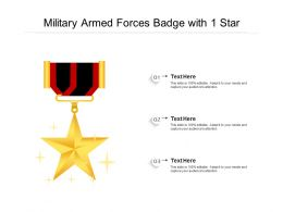 Military Armed Forces Badge With 1 Star