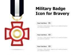 Military Badge Icon For Bravery
