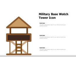 Military Base Watch Tower Icon