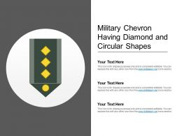 Military Chevron Having Diamond And Circular Shapes