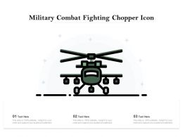 Military Combat Fighting Chopper Icon