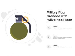 Military Flag Grenade With Pullup Hook Icon