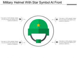 Military Helmet With Star Symbol At Front