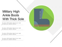 Military High Ankle Boots With Thick Sole